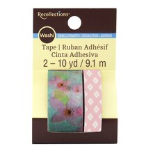 Blue & Pink Floral Washi Tape by Recollections